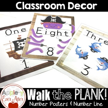 Walk the Plank Series - Pirate Number Posters & Number Line