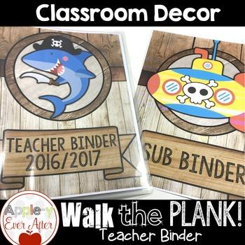 Walk the Plank Series - Teacher Binder with EDITABLE Pages