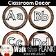 Walk the Plank Series - Pirate Wooden Word Wall Alphabet