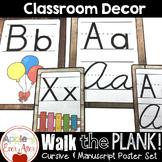Walk the Plank Series - Wooden Alphabet Poster Sets Cursiv