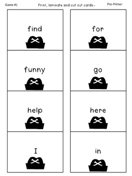 Walk the Plank! - A Sight Word Game!
