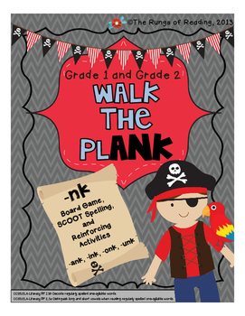 Walk the Plank (-nk sound of ank, ink, onk, unk)