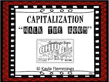 "Walk the Room Capitalization Game- ""Trip To Ohio"" theme"