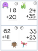 Walk the Room Math Fact Fluency Game Adding & Subtracting Double Digits Set 3
