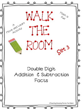 Walk the Room Math Fact Fluency Game Adding & Subtracting