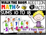 Walk the Room Math Pack 11: Addition with Sums 10 to 18 (1