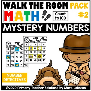 Walk the Room Math Pack 2: Mystery Numbers: Count to 100 (1.NBT.1.A)