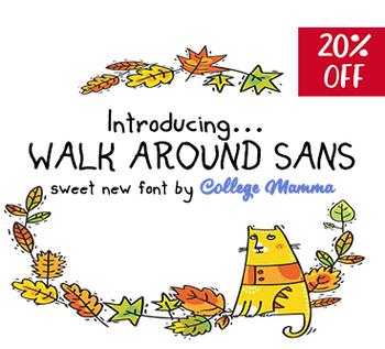 WalkAroundSans Font