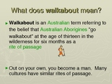 Walkabout Overview Powerpoint