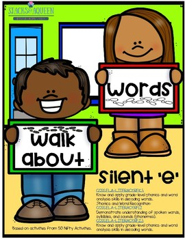 Walkabout words Silent E