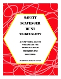 Walker Safety Scavenger Hunt All Ages Worksheets