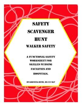Walker Safety Scavenger Hunt All Ages Worksheets