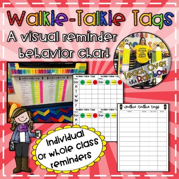 Walkie-Talkie Tags- Visual Reminder Behavior Chart