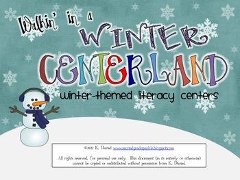 Walkin' in a Winter *Literacy* Centerland {Winter Centers for Literacy}