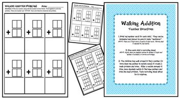 Walking Addition-An Addition with Regrouping Interactive Activity