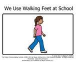 Walking Feet at School Social Story
