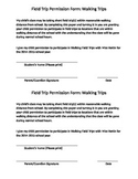 Walking Field Trip Permission Form