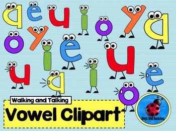Clipart: Walking, Talking Vowel
