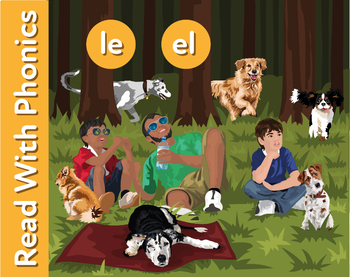 Walking The Dogs: Learn Words Ending In le (as in whistle) and el (as in angel