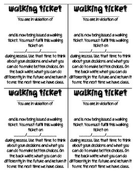 Walking Tickets