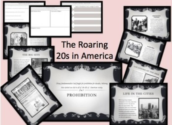 Roaring 20s 1920s Walking Tour Centers Activity Gallery Walk