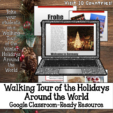 Walking Tour on Winter Holidays Around World Digital for G