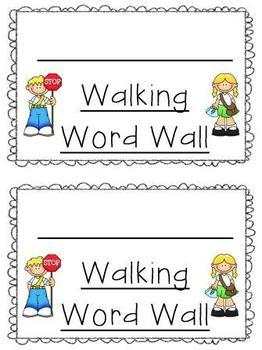 Walking Word Wall booklet
