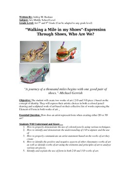 """""""Walking a Mile in my Shoes""""-Expression Through Shoes, Who Are We?"""