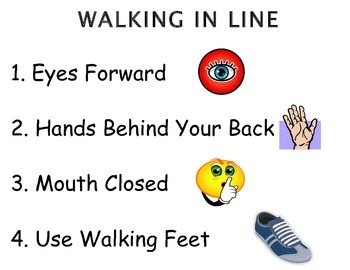Walking in Line (Visual Support)