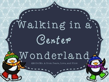 Kindergarten Literacy Centers for Winter or Christmas