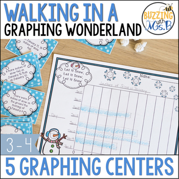 Winter Themed Graphing Task Cards and Activities