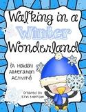 Walking in a Winter Wonderland! {A Holiday Alliteration Activity}