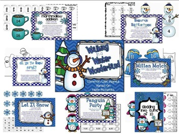 Winter Math Centers / Math Tubs, Common Core Aligned, Hands-on Activities