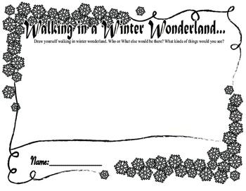 Walking in a Winter Wonderland Drawing Worksheet (Christmas or all winter)