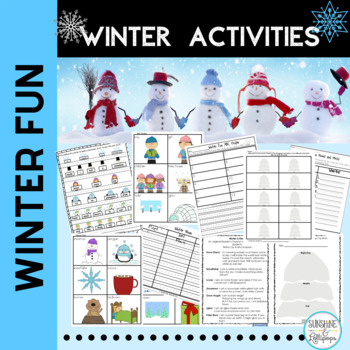 Winter Literacy Stations:Walking in a Winter Wonderland Aligned with Common Core
