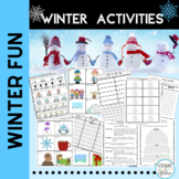 Winter Activities Literacy Activities for Stations First Grade