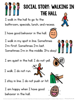 Walking in the Hall Social Story
