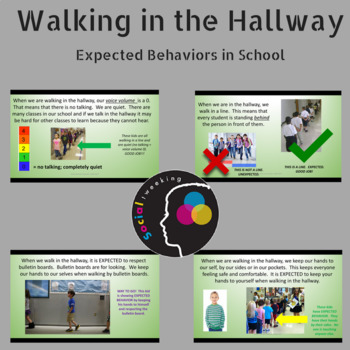 Walking in the Hallway; Expected Behaviors; Social Skills; Hallway Behavior
