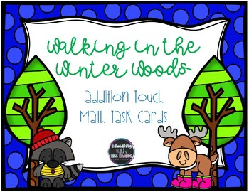 Walking in the Winter Woods Touch Math Task Cards