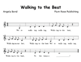 """Tempo/Beat Elementary Music Song """"Walking to the Beat"""" (Te"""