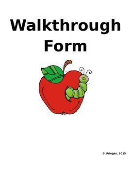 Walkthrough Form