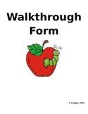 Walkthrough Form