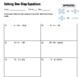 Walkthrough & Worksheet: One Step Equations