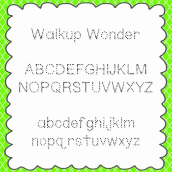 Walkup Wonder Font {personal and commercial use; no licens