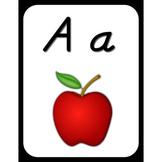 Wall Alphabet Cards (Black Frame) (D'nealian Font)
