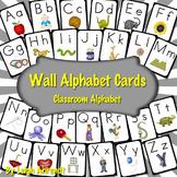 Wall Alphabet Cards (Black Frame) (Manuscript Font)