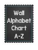 Wall Alphabet Chart ~~ Chalkboard and Blue ~~ A-Z ~~ Zaner-Bloser & Cursive