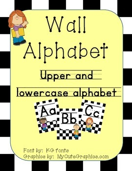 Wall Alphabet Letters (Upper and Lower Case)