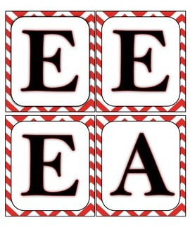 Wall Boggle - Red Chevron/Black Letters
