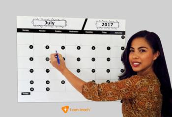 Wall Calendar (Digital Printout)-Light Blue